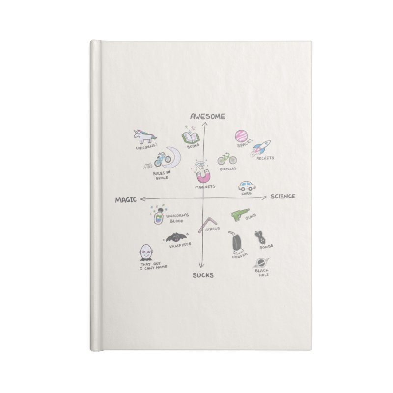 Science vs Magic Accessories Blank Journal Notebook by agrimony // Aaron Thong