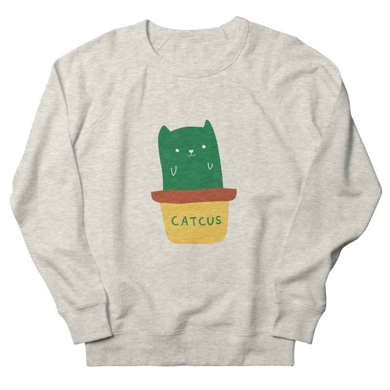 Catcus Men's French Terry Sweatshirt by agrimony // Aaron Thong