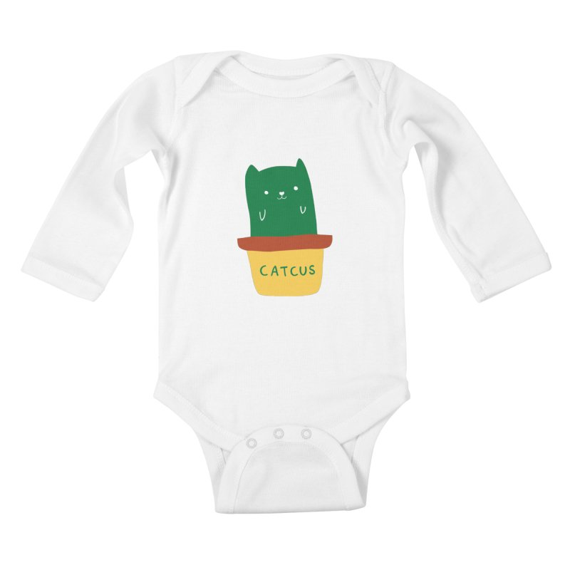 Catcus Kids Baby Longsleeve Bodysuit by agrimony // Aaron Thong