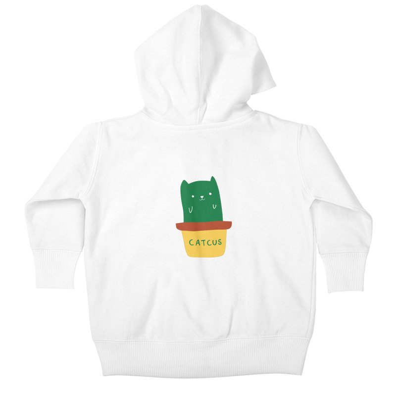 Catcus Kids Baby Zip-Up Hoody by agrimony // Aaron Thong