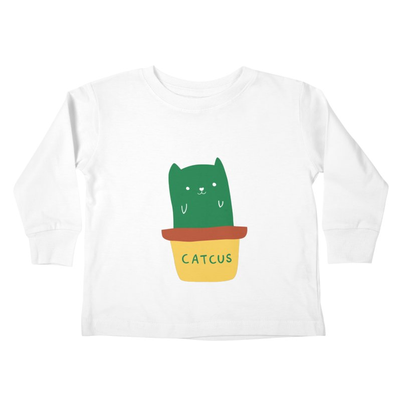 Catcus Kids Toddler Longsleeve T-Shirt by agrimony // Aaron Thong