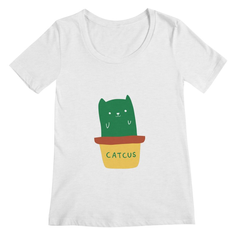 Catcus Women's Scoopneck by agrimony // Aaron Thong