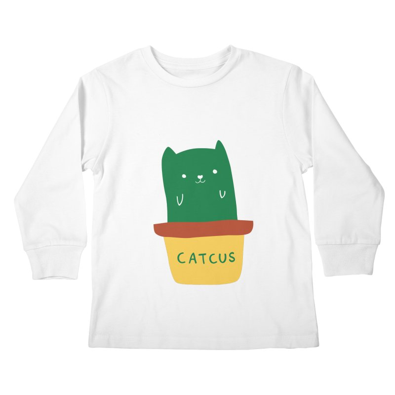 Catcus Kids Longsleeve T-Shirt by agrimony // Aaron Thong