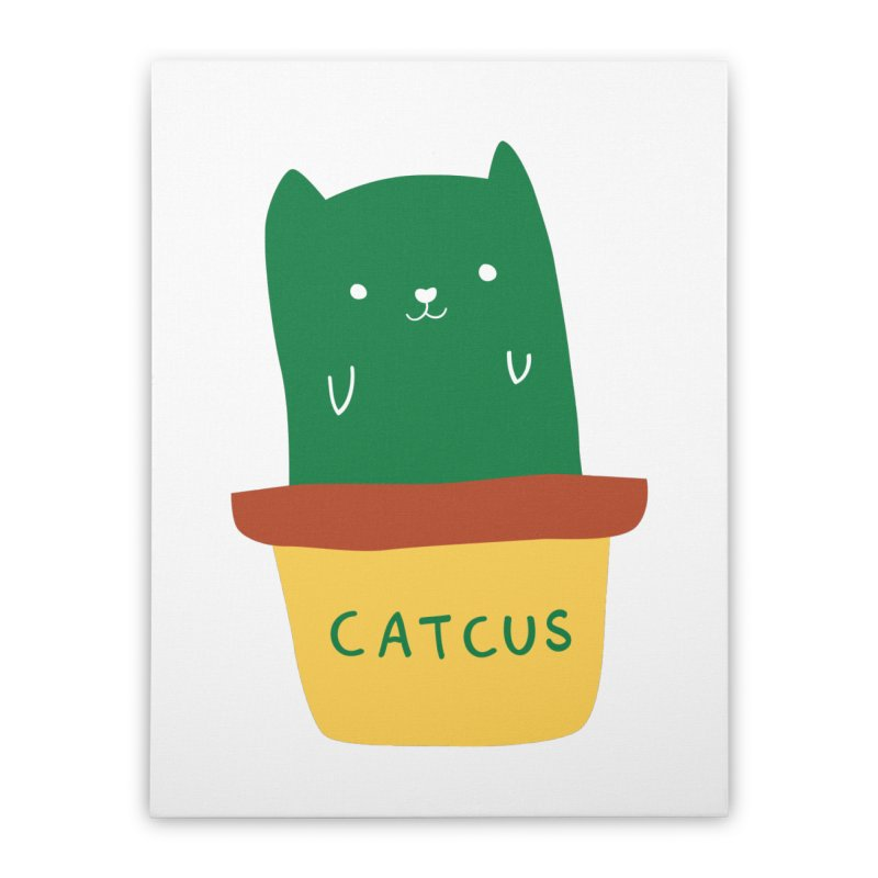 Catcus Home Stretched Canvas by agrimony // Aaron Thong