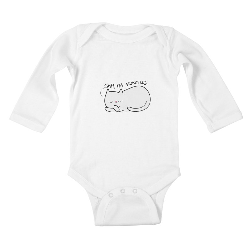 Shh I'm Hunting Kids Baby Longsleeve Bodysuit by agrimony // Aaron Thong