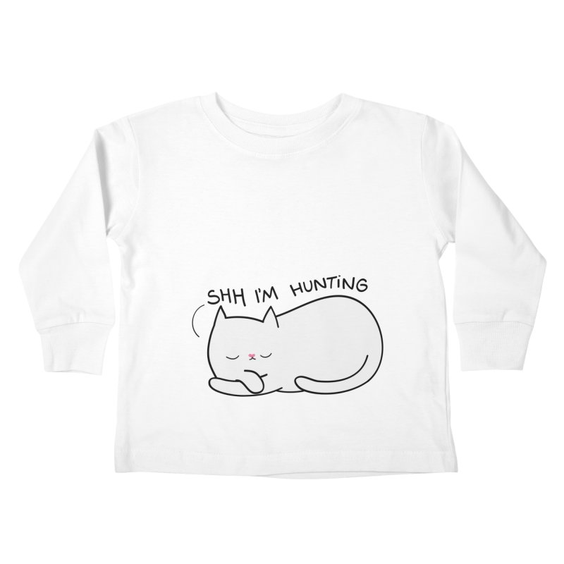 Shh I'm Hunting Kids Toddler Longsleeve T-Shirt by agrimony // Aaron Thong