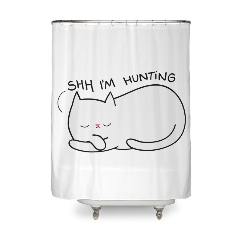 Shh I'm Hunting Home Shower Curtain by agrimony // Aaron Thong