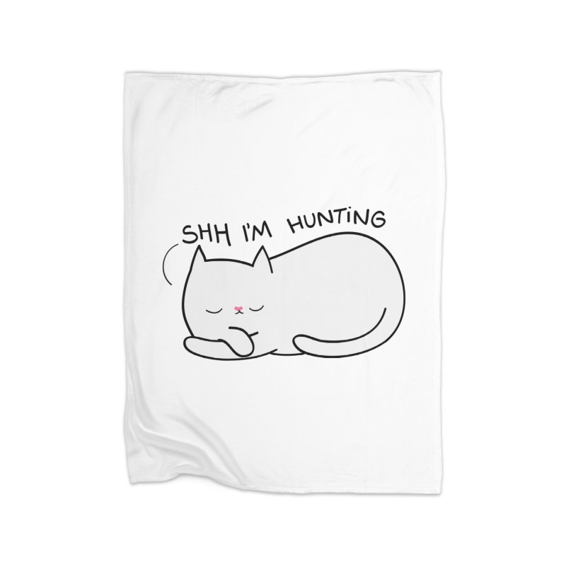 Shh I'm Hunting Home Blanket by agrimony // Aaron Thong