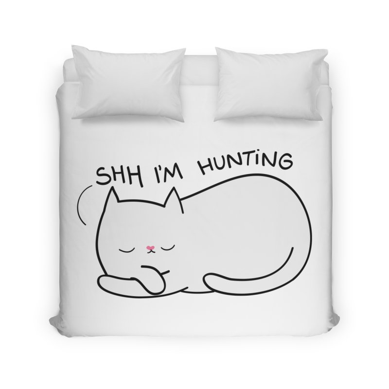 Shh I'm Hunting Home Duvet by agrimony // Aaron Thong