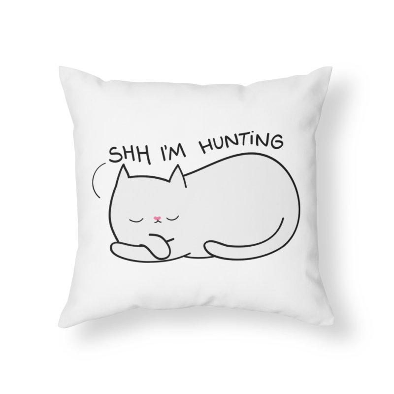 Shh I'm Hunting Home Throw Pillow by agrimony // Aaron Thong