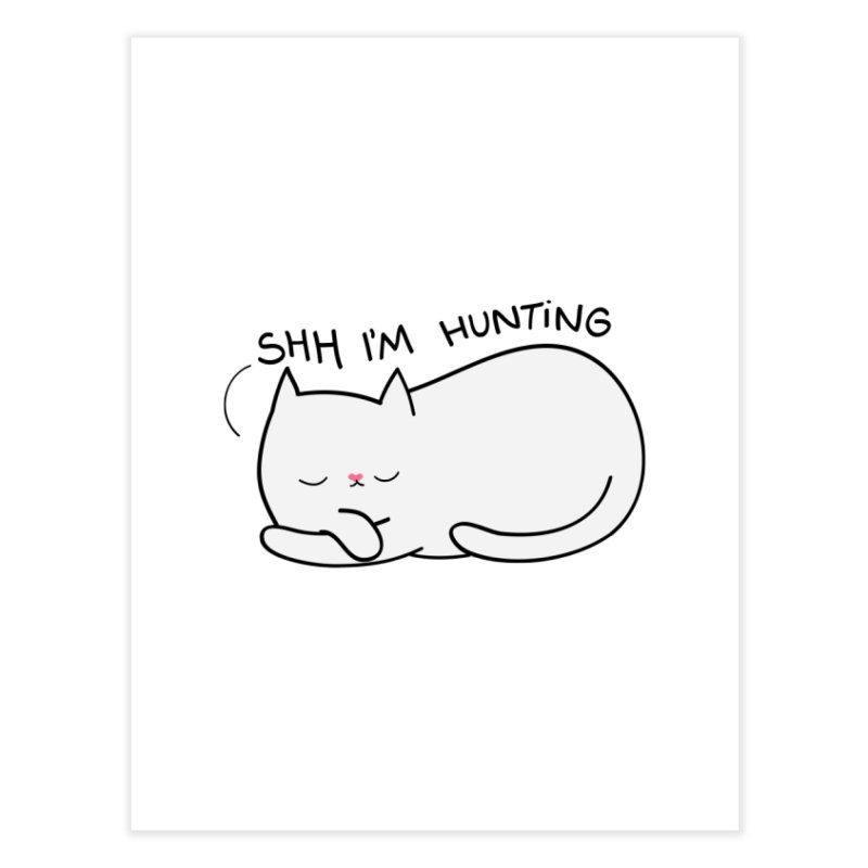 Shh I'm Hunting Home Fine Art Print by agrimony // Aaron Thong
