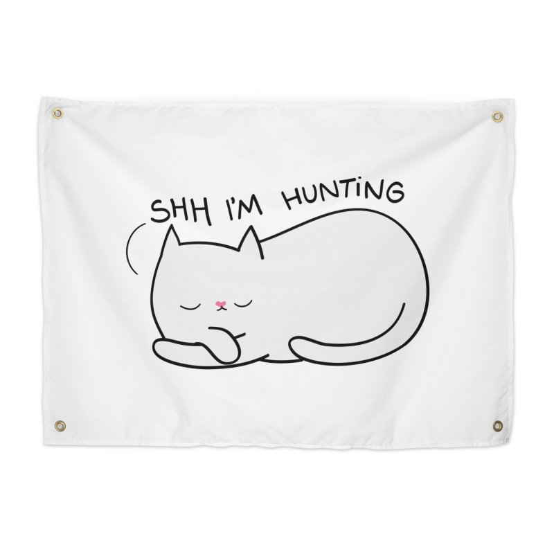 Shh I'm Hunting Home Tapestry by agrimony // Aaron Thong