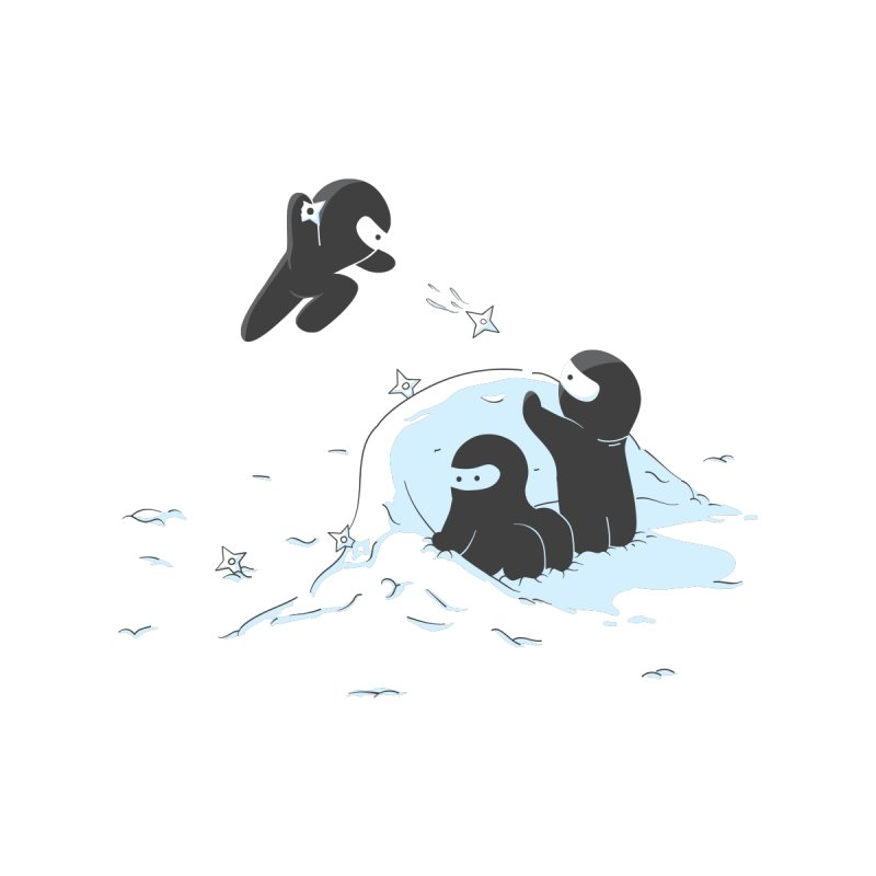 Ninjas don't camoflage well in winter by agrimony // Aaron Thong