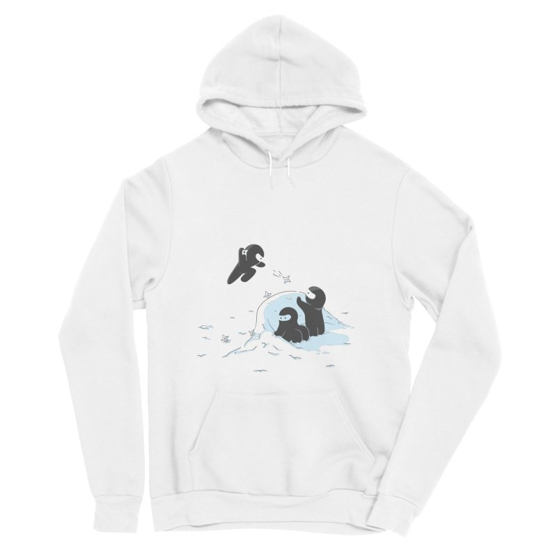 Ninjas don't camoflage well in winter Men's Pullover Hoody by agrimony // Aaron Thong