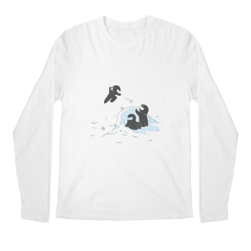 Ninjas don't camoflage well in winter Men's Regular Longsleeve T-Shirt by agrimony // Aaron Thong
