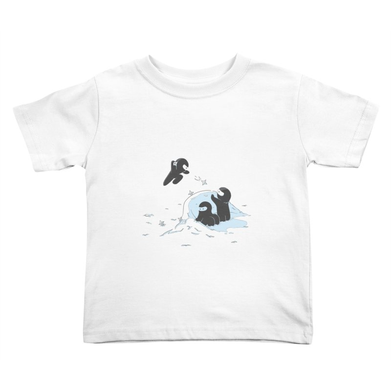 Ninjas don't camoflage well in winter Kids Toddler T-Shirt by agrimony // Aaron Thong