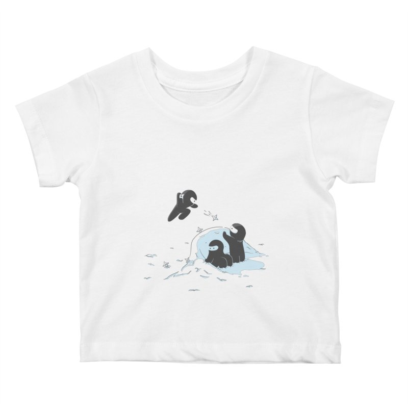 Ninjas don't camoflage well in winter Kids Baby T-Shirt by agrimony // Aaron Thong