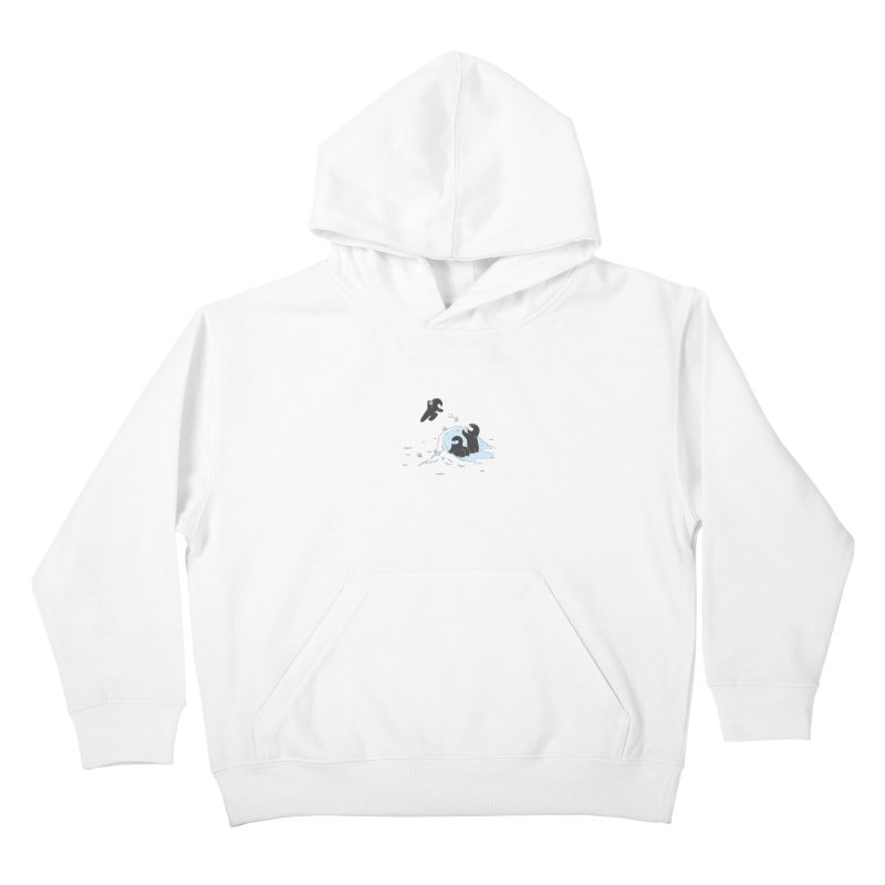Ninjas don't camoflage well in winter Kids Pullover Hoody by agrimony // Aaron Thong
