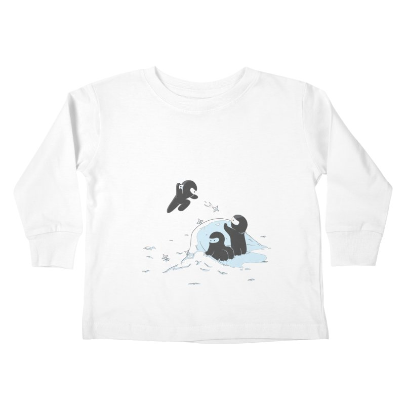 Ninjas don't camoflage well in winter Kids Toddler Longsleeve T-Shirt by agrimony // Aaron Thong