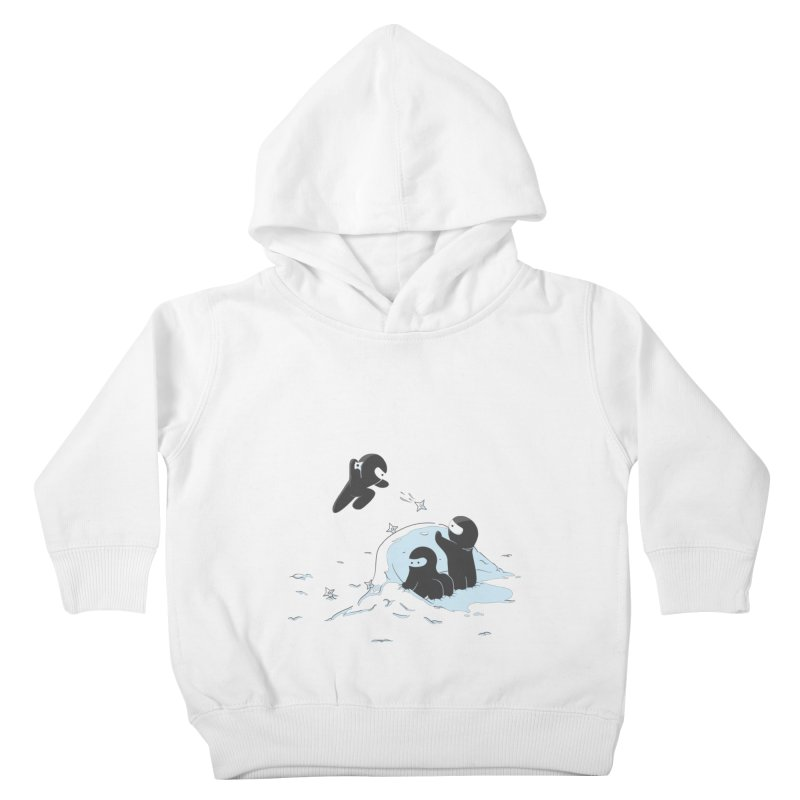Ninjas don't camoflage well in winter Kids Toddler Pullover Hoody by agrimony // Aaron Thong