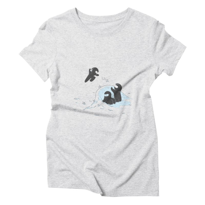 Ninjas don't camoflage well in winter Women's Triblend T-Shirt by agrimony // Aaron Thong