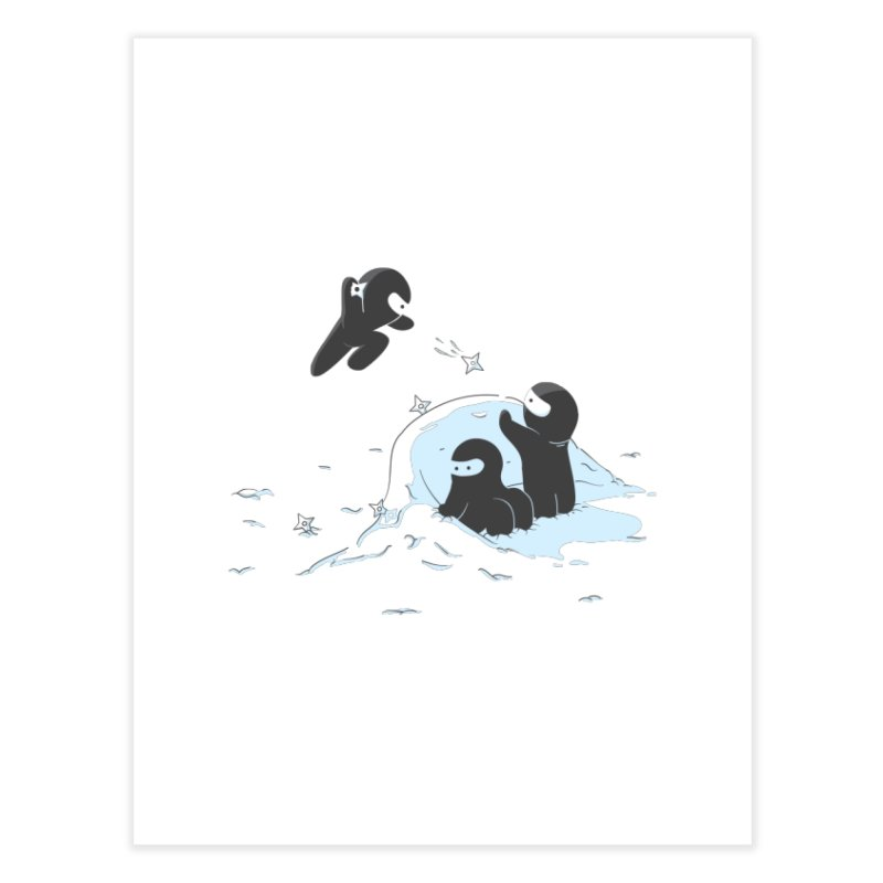 Ninjas don't camoflage well in winter Home Fine Art Print by agrimony // Aaron Thong