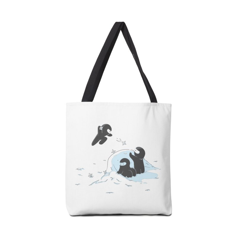 Ninjas don't camoflage well in winter Accessories Bag by agrimony // Aaron Thong