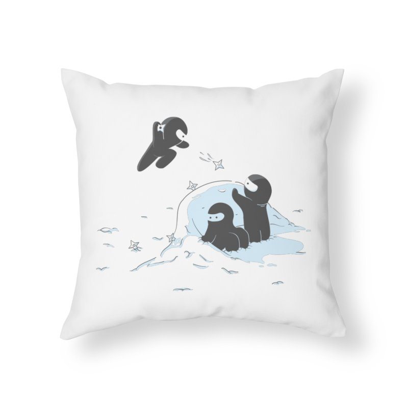 Ninjas don't camoflage well in winter Home Throw Pillow by agrimony // Aaron Thong