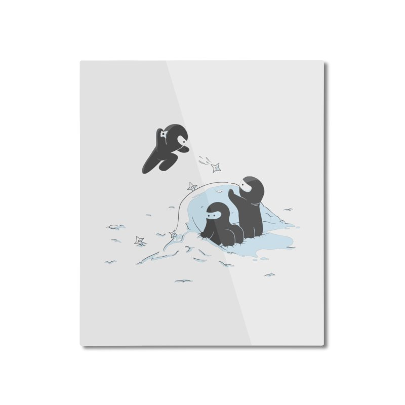 Ninjas don't camoflage well in winter Home Mounted Aluminum Print by agrimony // Aaron Thong