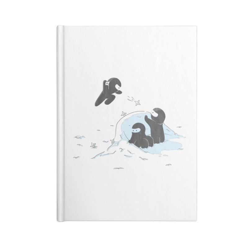 Ninjas don't camoflage well in winter Accessories Notebook by agrimony // Aaron Thong