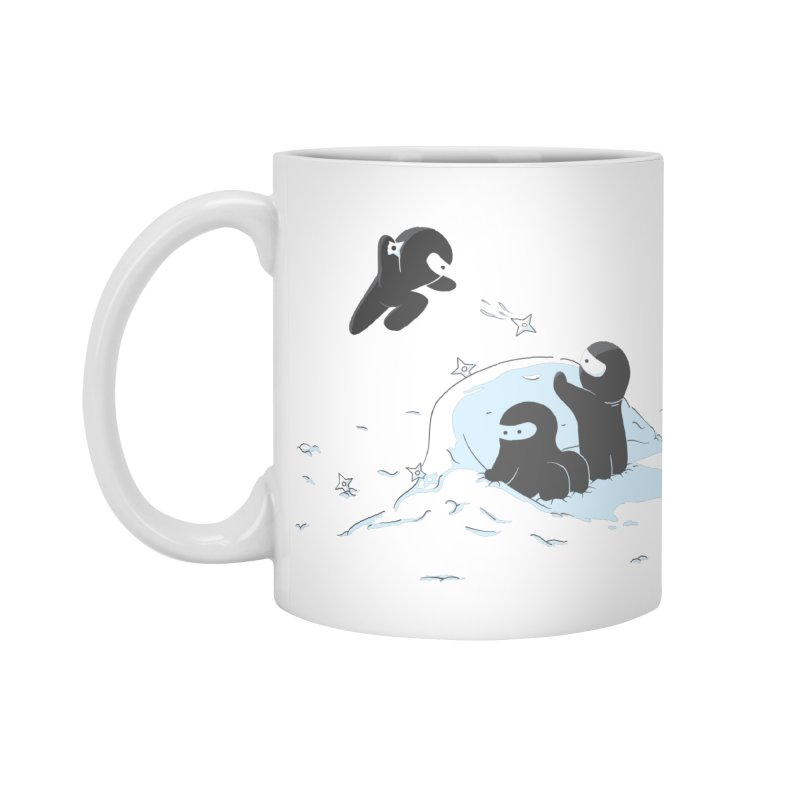 Ninjas don't camoflage well in winter Accessories Standard Mug by agrimony // Aaron Thong