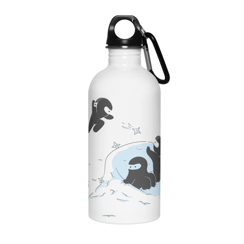 Ninjas don't camoflage well in winter Accessories Water Bottle by agrimony // Aaron Thong