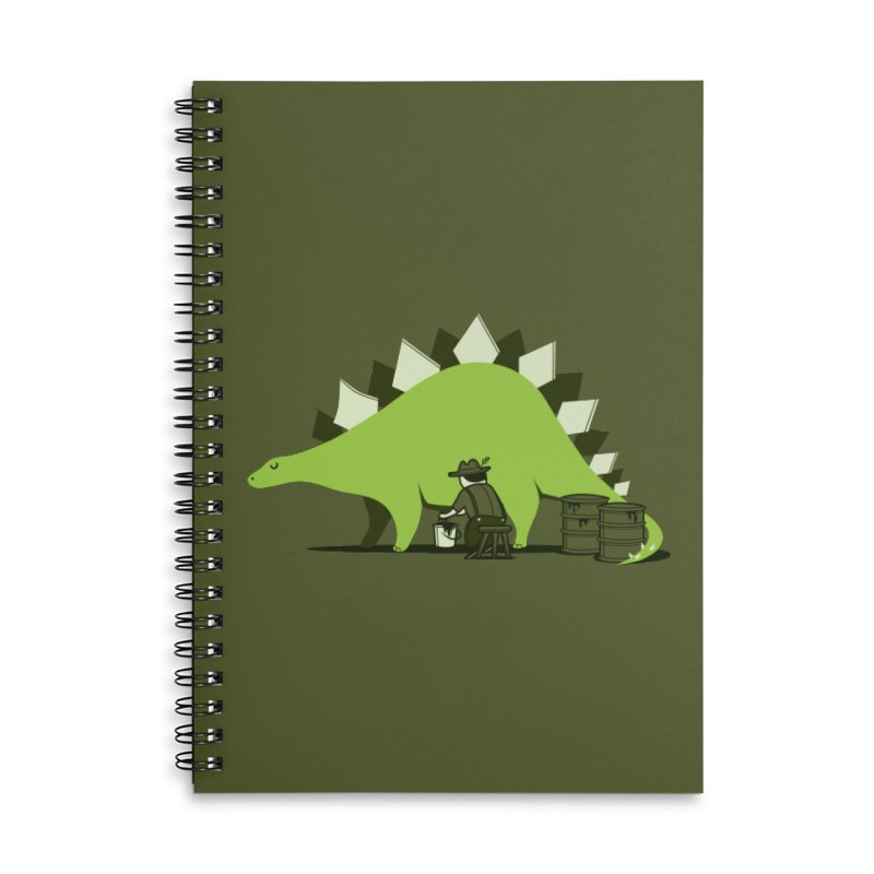 Crude oil origins Accessories Lined Spiral Notebook by agrimony // Aaron Thong