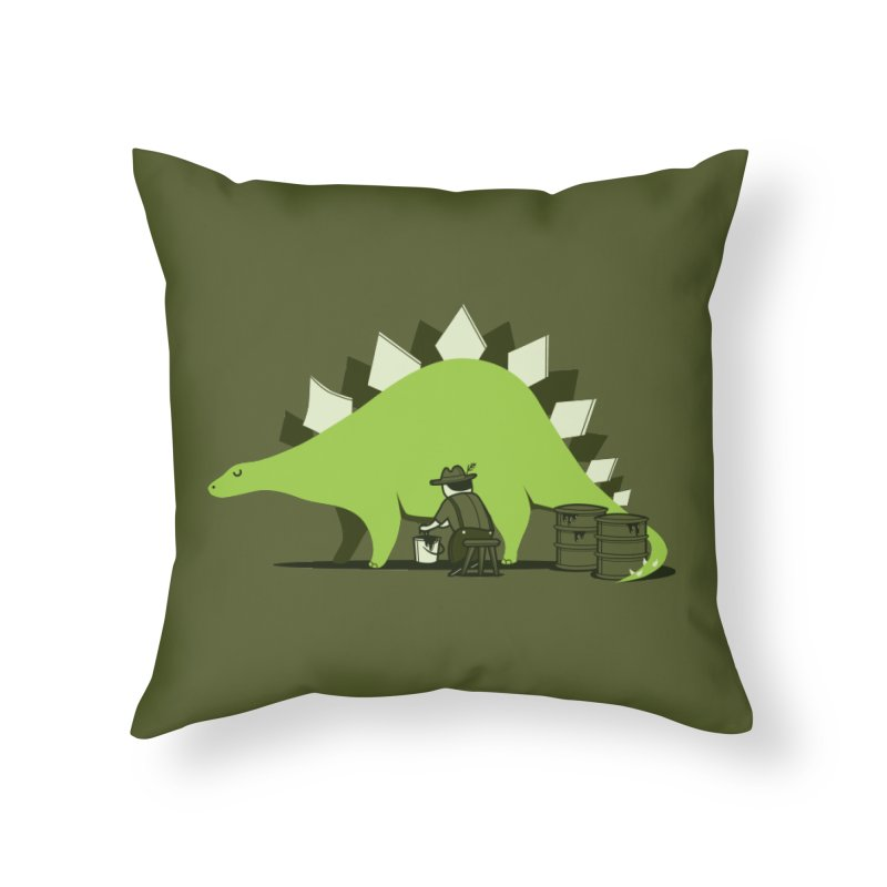 Crude oil origins Home Throw Pillow by agrimony // Aaron Thong
