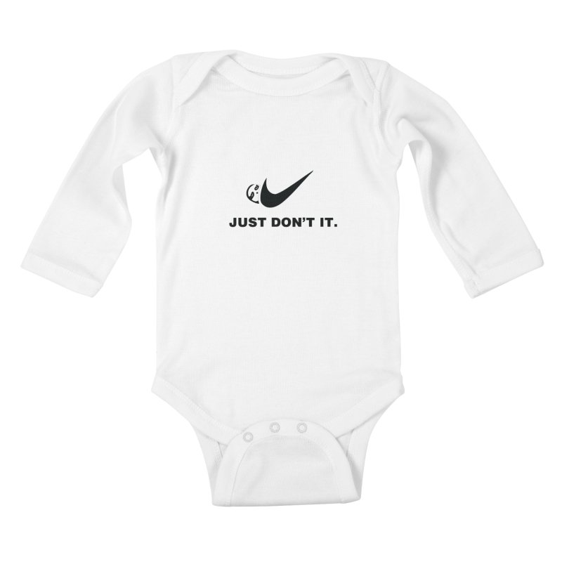 Just don't it Kids Baby Longsleeve Bodysuit by agrimony // Aaron Thong