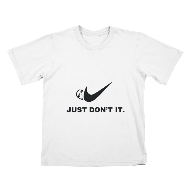 Just don't it Kids T-Shirt by agrimony // Aaron Thong