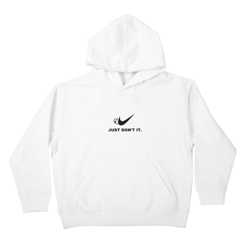 Just don't it Kids Pullover Hoody by agrimony // Aaron Thong