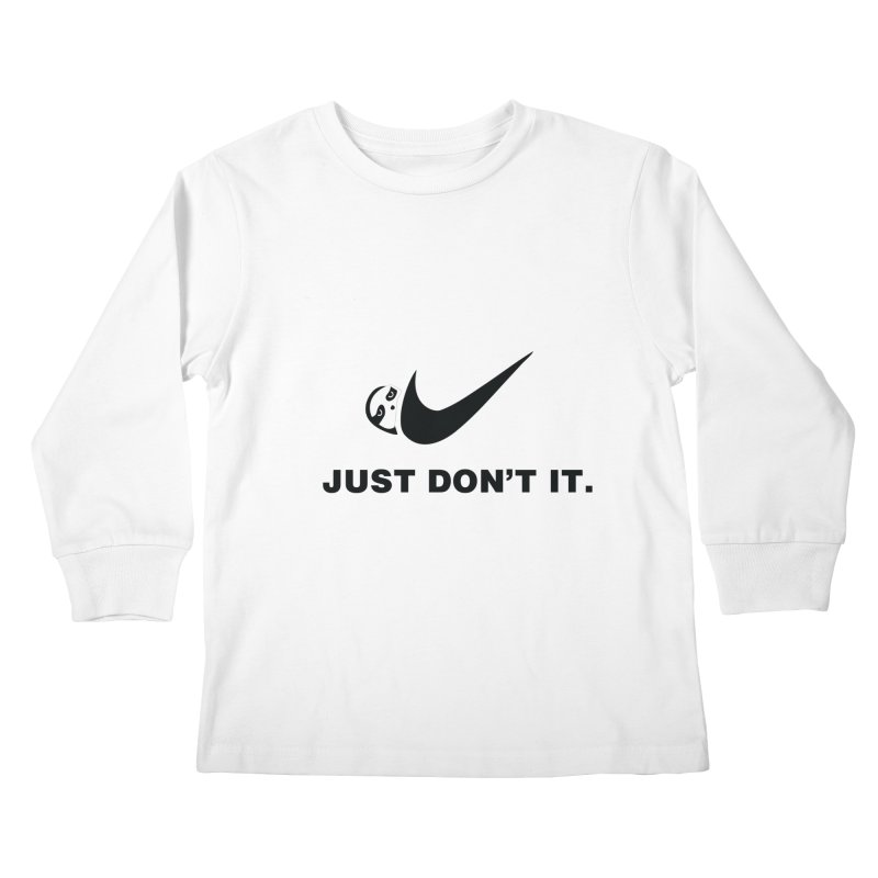 Just don't it Kids Longsleeve T-Shirt by agrimony // Aaron Thong