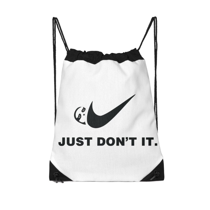 Just don't it Accessories Drawstring Bag Bag by agrimony // Aaron Thong