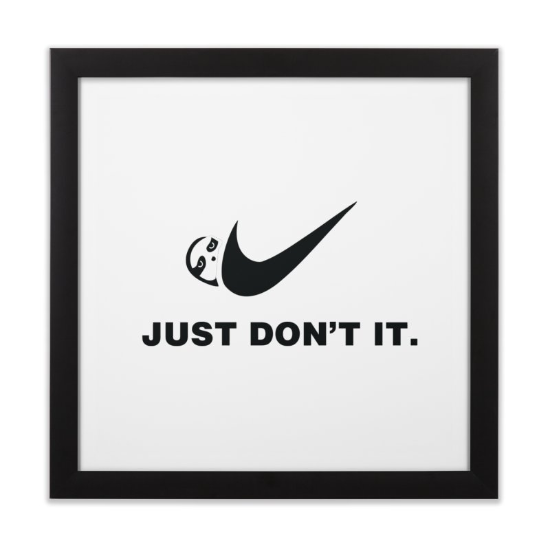 Just don't it Home Framed Fine Art Print by agrimony // Aaron Thong