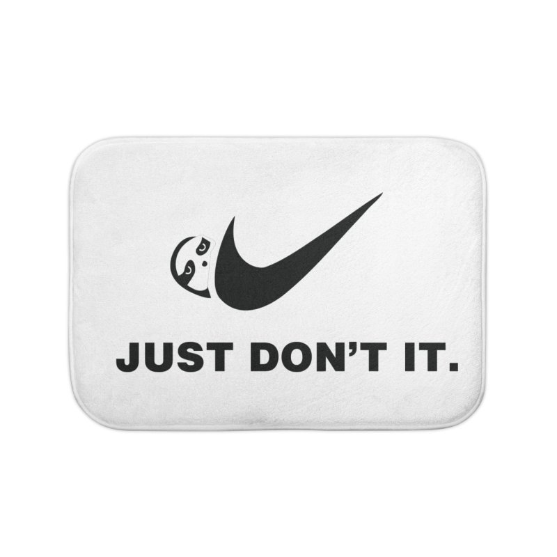 Just don't it Home Bath Mat by agrimony // Aaron Thong