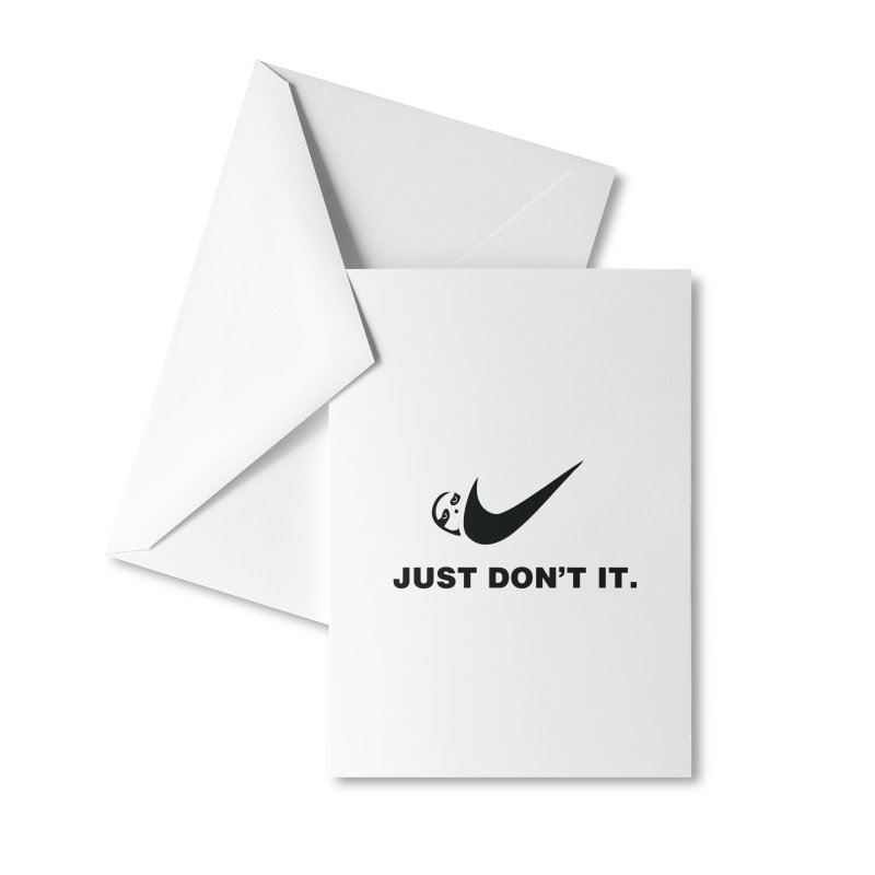 Just don't it Accessories Greeting Card by agrimony // Aaron Thong