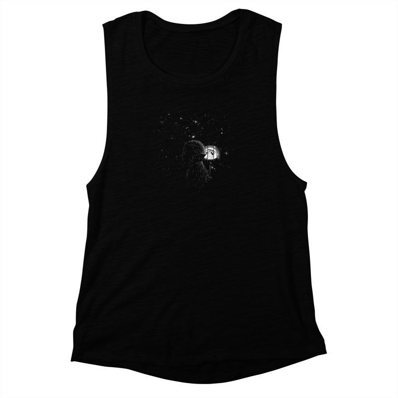The Night Endless Women's Muscle Tank by agrimony // Aaron Thong