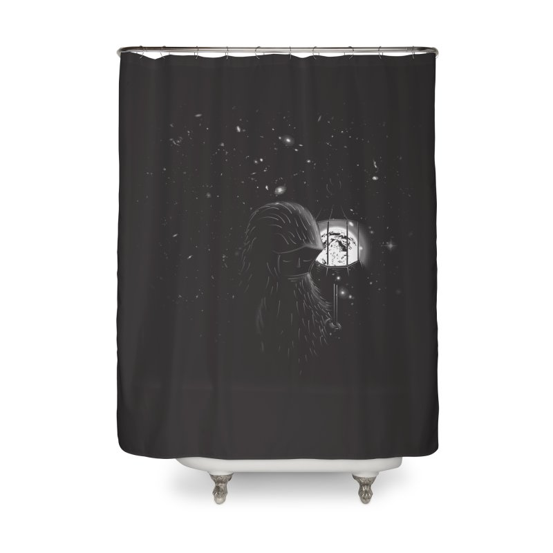 The Night Endless Home Shower Curtain by agrimony // Aaron Thong