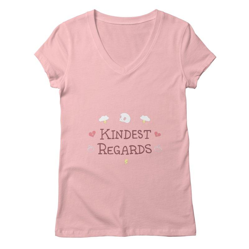 Kindest Regards Women's Regular V-Neck by agrimony // Aaron Thong