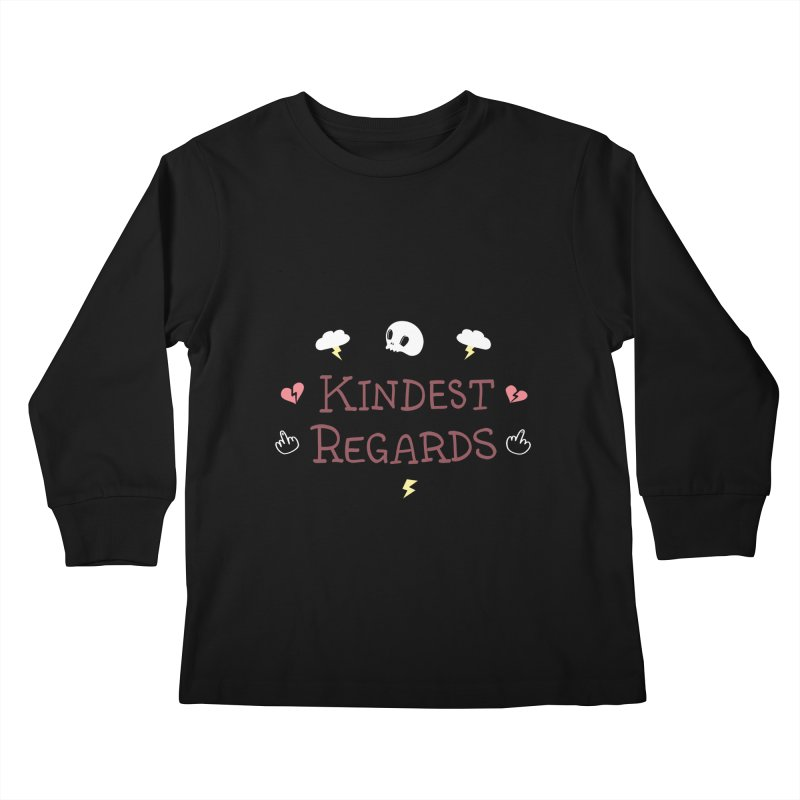 Kindest Regards Kids Longsleeve T-Shirt by agrimony // Aaron Thong