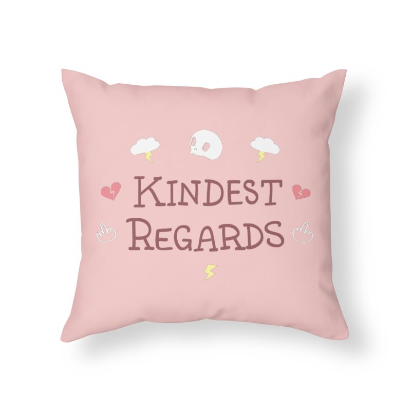 Kindest Regards Home Throw Pillow by agrimony // Aaron Thong