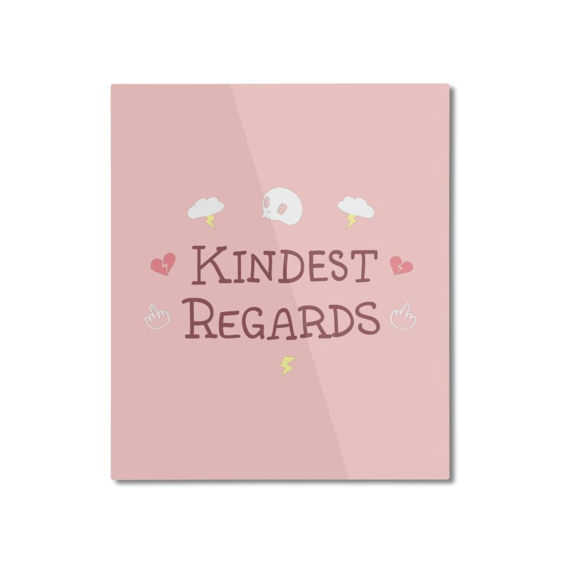 Kindest Regards Home Mounted Aluminum Print by agrimony // Aaron Thong