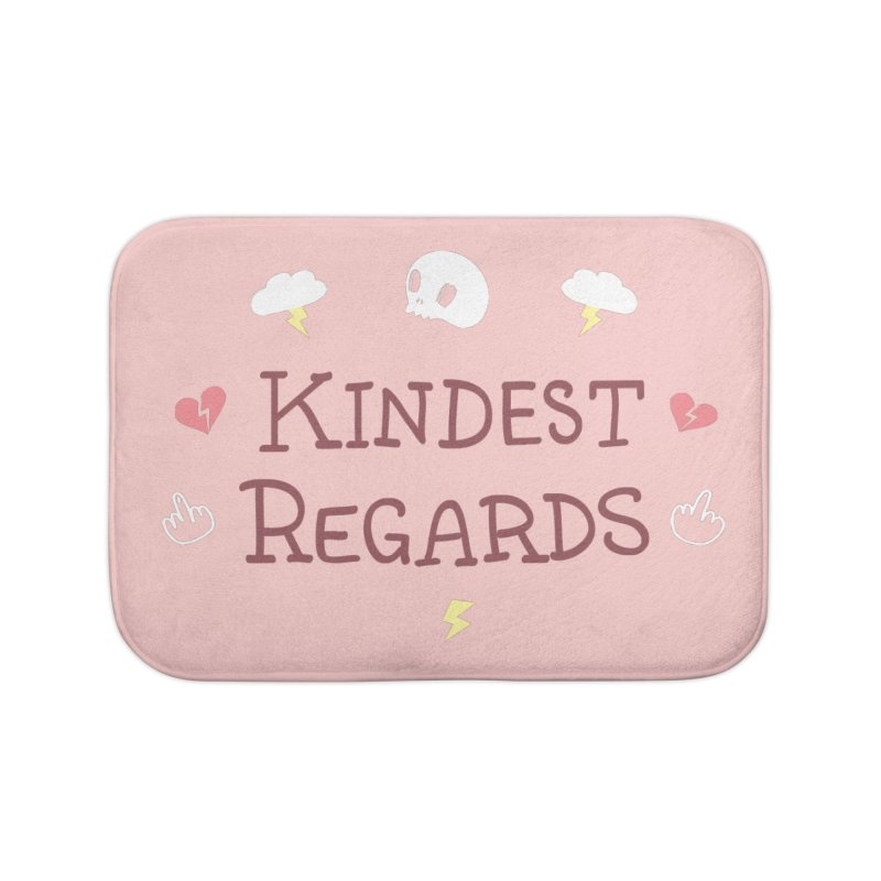 Kindest Regards Home Bath Mat by agrimony // Aaron Thong