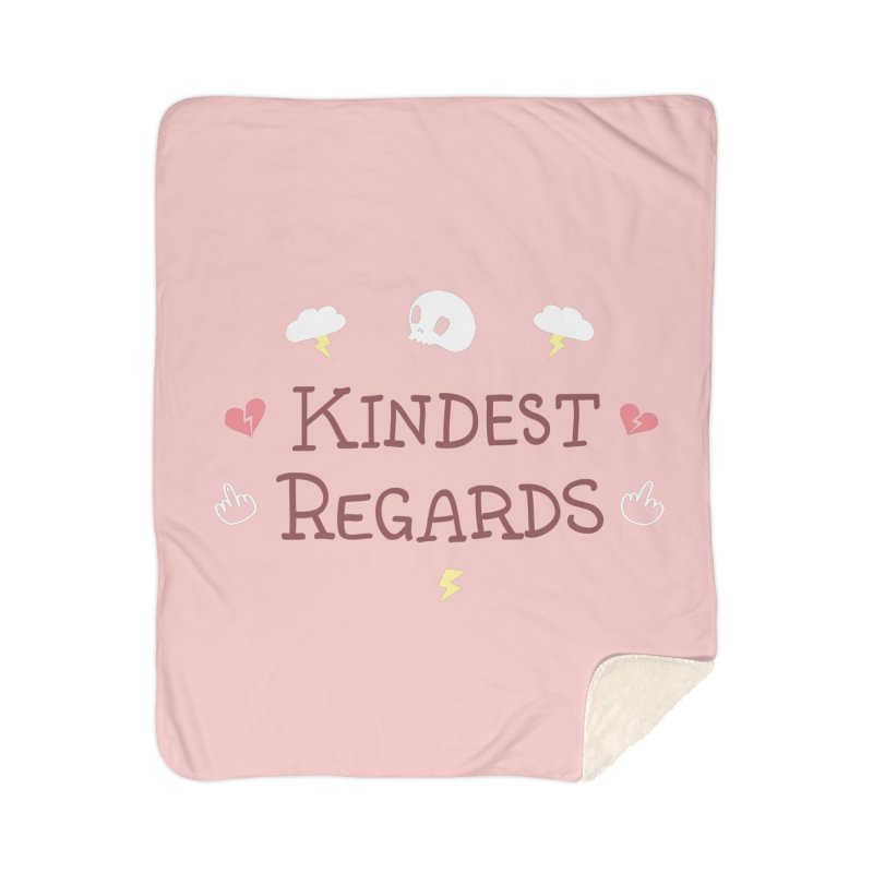 Kindest Regards Home Sherpa Blanket Blanket by agrimony // Aaron Thong